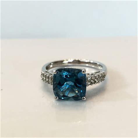 shop blue topaz promise ring on wanelo