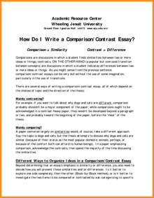 Compare And Contrast Essay Questions by 6 Writing A Comparison Contrast Essay Agenda Exle
