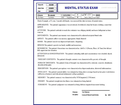 mental status exam dementia information handy user