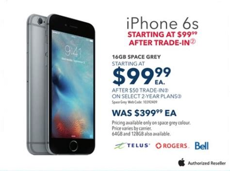 best buy boxing day sale: 16gb iphone 6s for $99.99 after
