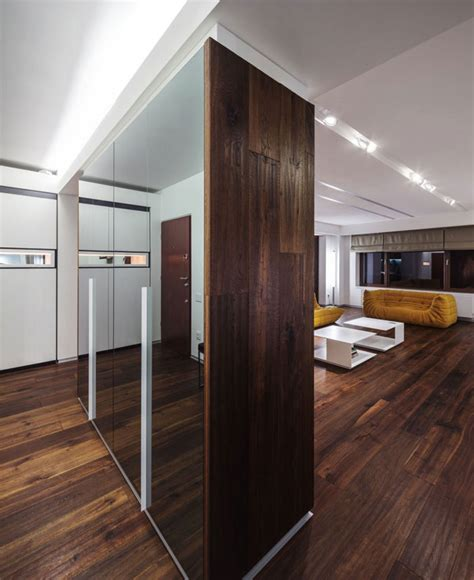 Latest Trends In Kitchen Design dark deep colored contemporary apartment interiorzine