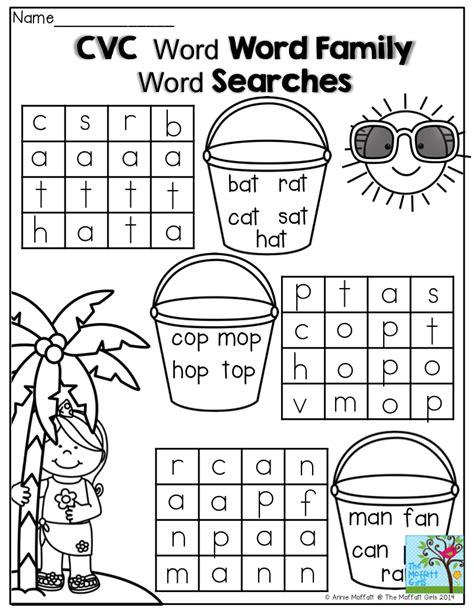 Cvc Words Worksheets by Kindergarten Cvc Word Search Worksheets Kindergarten Best Free Printable Worksheets