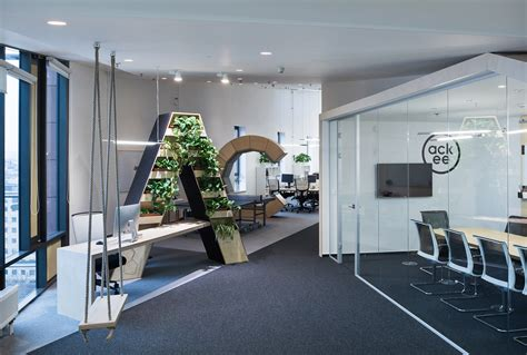 Front Desk Hq by Inside Ackee S Cool New Prague Headquarters Officelovin