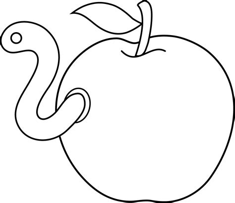 apple with worm coloring page 2017 2018 best cars reviews