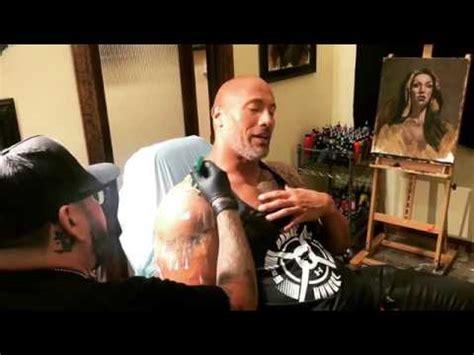 dwayne johnson texas longhorns tattoo dwayne johnson the rock getting a new tattoo 2017 must