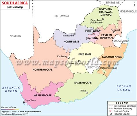 africa map major cities south africa map showing the provinces with capital