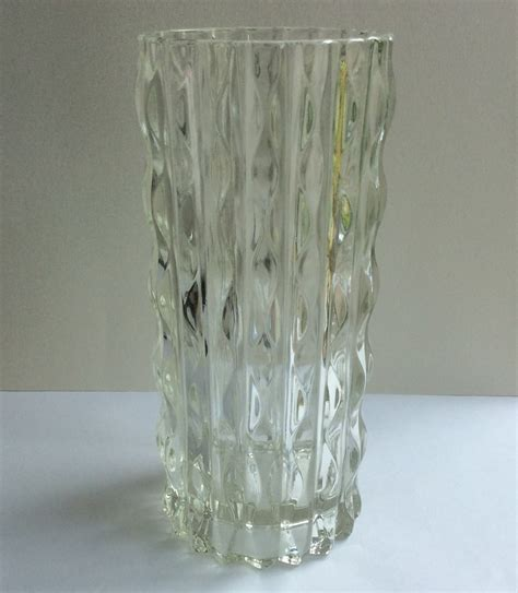Pressed Glass Vase by Videnza Pressed Glass Vase Italy Collectors Weekly
