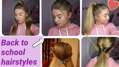 hairstyles for back to school youtube 5 quick easy back to school hairstyles youtube
