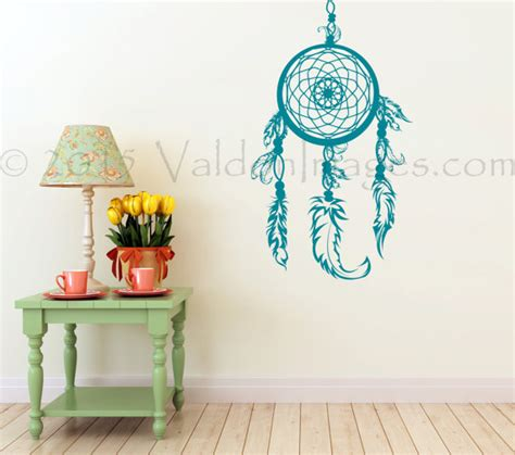 teal wall stickers teal catcher wall decal boho wall decal wall sticker