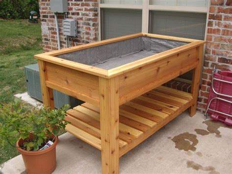 Elevated Cedar Planter Box how to build raised planter boxes search yard