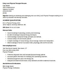 Pediatric Physical Therapist Cover Letter by Pediatric Physical Therapy Resume Sle