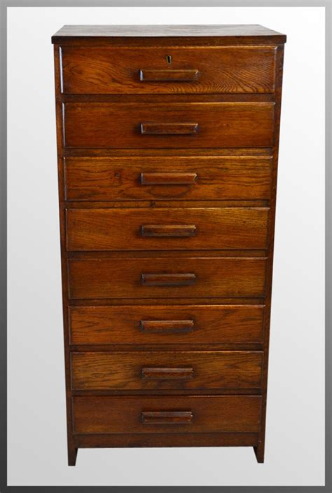 Tall Chest Set Of Specimen Drawers Filing Cabinet