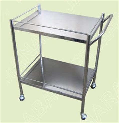 meja instrumen stainless steel 2 susun toko medis jual