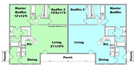 j2070 house plans by plansource inc duplex plan j0802d plansource inc