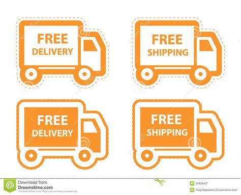 eps format is used for free shipping delivery icon set vector royalty free