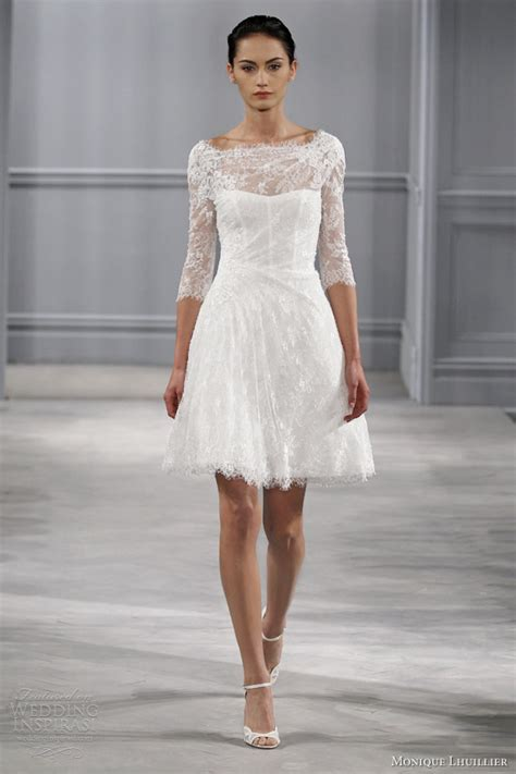 Gorgeous Short Wedding Dresses with Sleeves   Sang Maestro