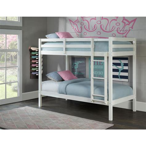 white twin bunk beds hillsdale furniture caspian white twin over twin bunk bed