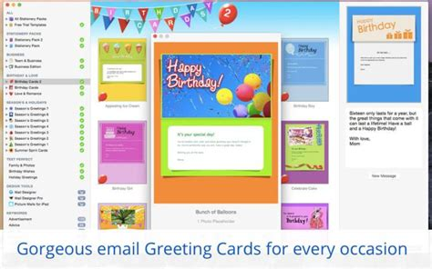 stationery greeting cards templates for apple mail for mac