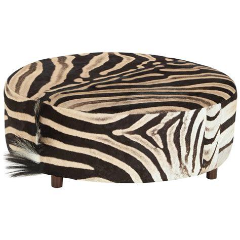 zebra ottoman zebra ottoman at 1stdibs
