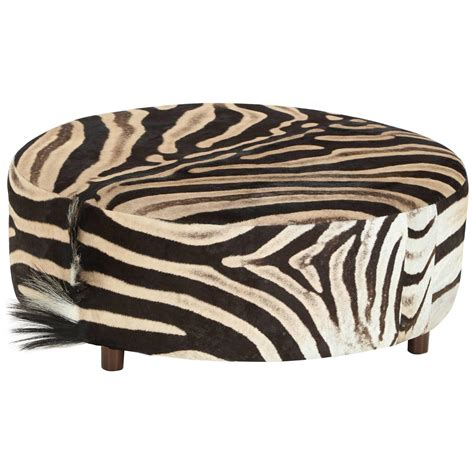 zebra chair and ottoman zebra ottoman at 1stdibs