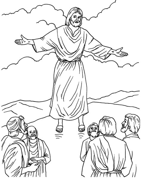 coloring pages ascension of jesus jesus ascension coloring pages and line drawing