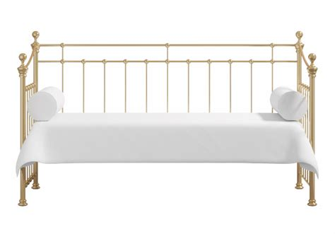 King Wood Bed Frame Emly Brass Day Bed The Original Bedstead Company