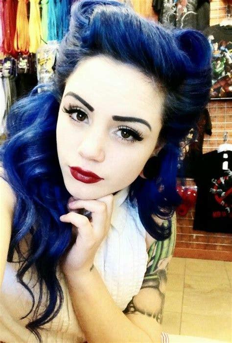blue black hair tips  styles dark blue hair dye