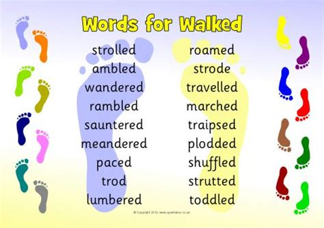 words for walked word mat sb10963 sparklebox