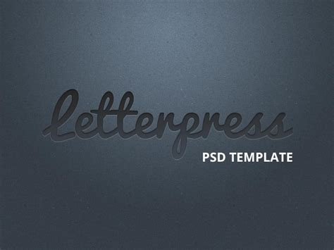 tutorial how to create the letterpress effect in