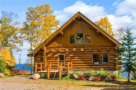 Lake Superior Cabins by Luxurious Log Cabin On Lake Superior Vrbo