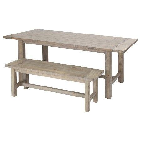 gilford dining table threshold gilford dining table and bench collection wood threshold