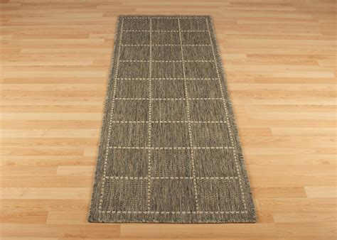 Checked Rug by Anti Slip Checked Rugs Flatweave Grey Runners Martin Phillips Carpets Martin Phillips Carpets