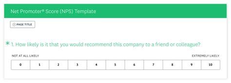 Net Promoter Score 174 Nps 174 Survey Surveymonkey Surveymonkey Nps Template