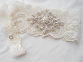 garters for wedding wedding garter set ivory or lite ivory stretch lace bridal