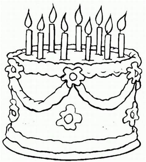 Birthday Coloring Pages Learn To Coloring Birthday Cake Color Page