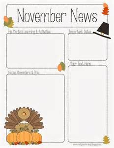 November Newsletter Template november newsletter template the crafty