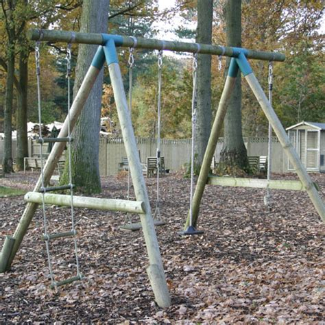 diy metal swing set diy double swing set gt diy play frames tate fencing