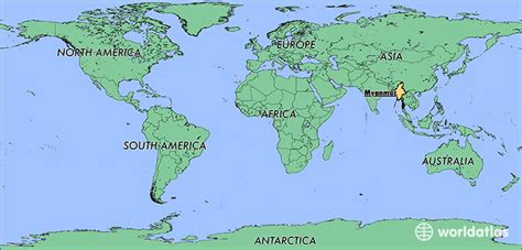 myanmar on world map where is myanmar where is myanmar located in the world