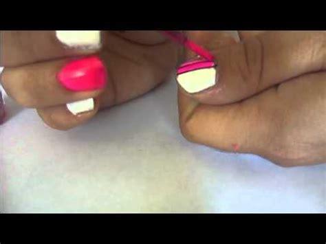 imagenes de uñas blancas con negro u 241 as fucsia neon con negro y blanco puntos y rayas youtube