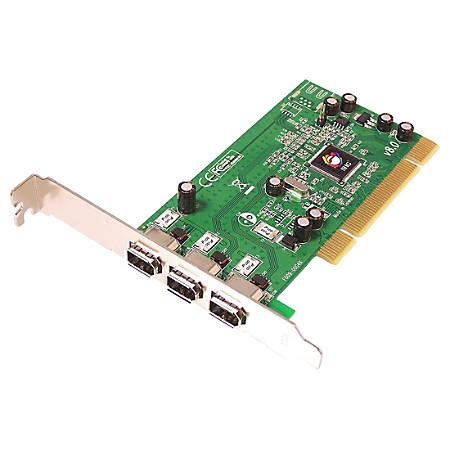 Siig Firewire 2 Port Pcie siig 3 port pci 1394 firewire adapter by office depot