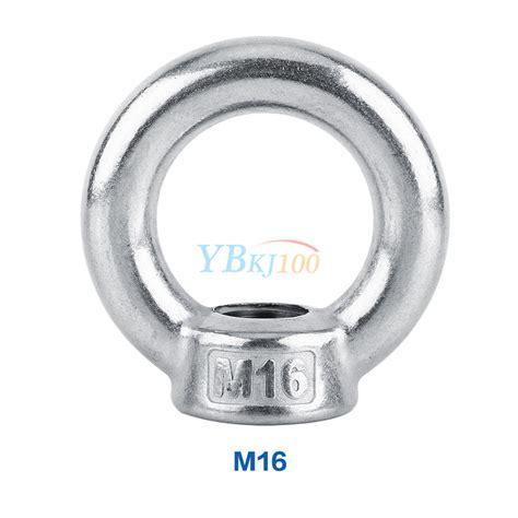 Ring Per M10 Stainless Berkualitas m6 m8 m10 m12 m14 m16 304 stainless steel lifting eye nut ring shape nuts newest
