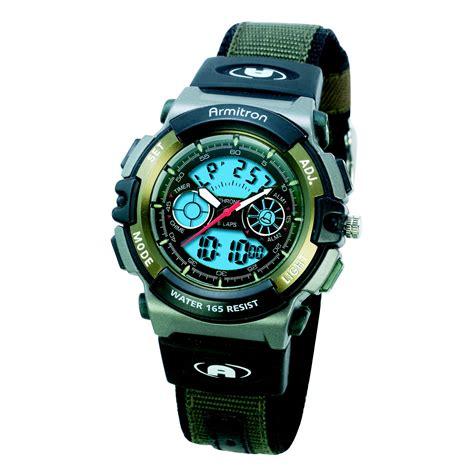 sale armitronmens analog digital chronograph w