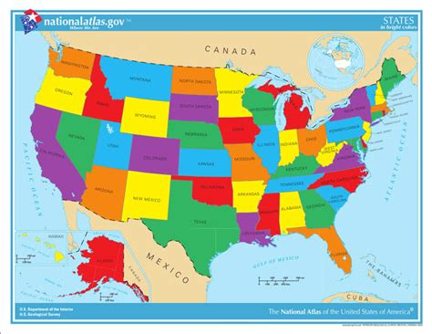 united states map with states usa state maps interactive state maps of usa state maps