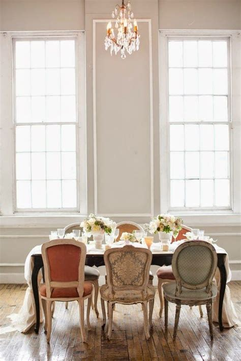 decorating  mismatched dining room chairs chairs