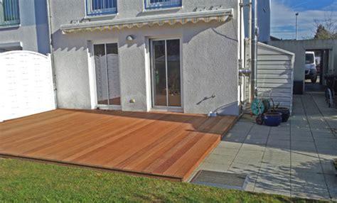 terrasse l form gefälle neue unterteilung der terrasse