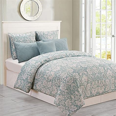 buy kensie lola oversized queen comforter set in seafoam
