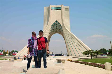 Corniced Azadi Tower Tehran Freedom Monument Surfiran