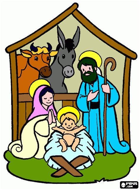 imagenes del nacimiento de jesus a color maestra de infantil nacimientos para colorear