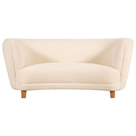 curved two seater sofa two seat curved sofa denmark 1940s for sale at 1stdibs