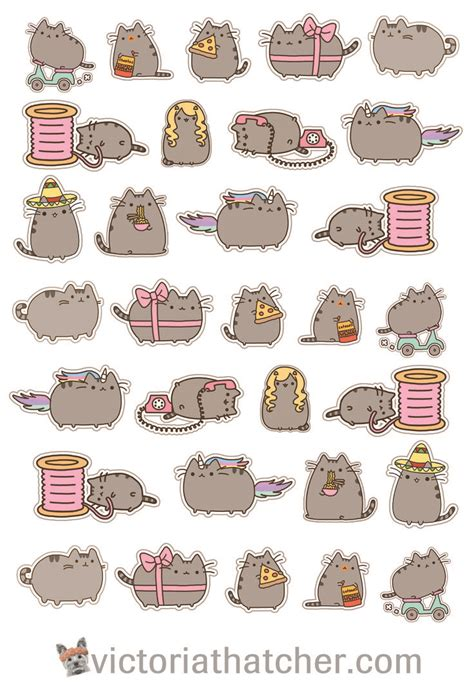 printable cat stickers best 25 pusheen stickers ideas on pinterest kawaii